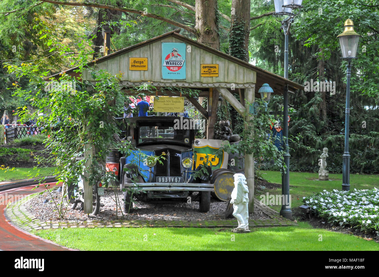 Renault NN Torpedo (1928) at Europa-Park is the largest theme park in Germany. is located at Rust between Freiburg and Strasbourg, France. - Stock Image
