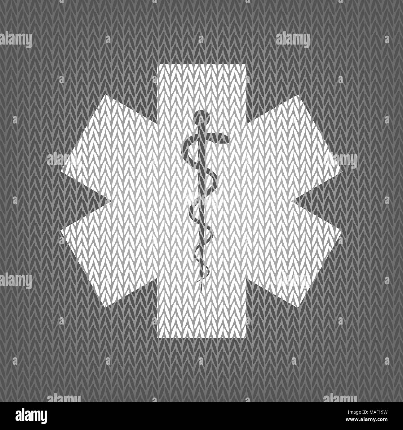 Medical Symbol Of The Emergency Or Star Of Life Vector White