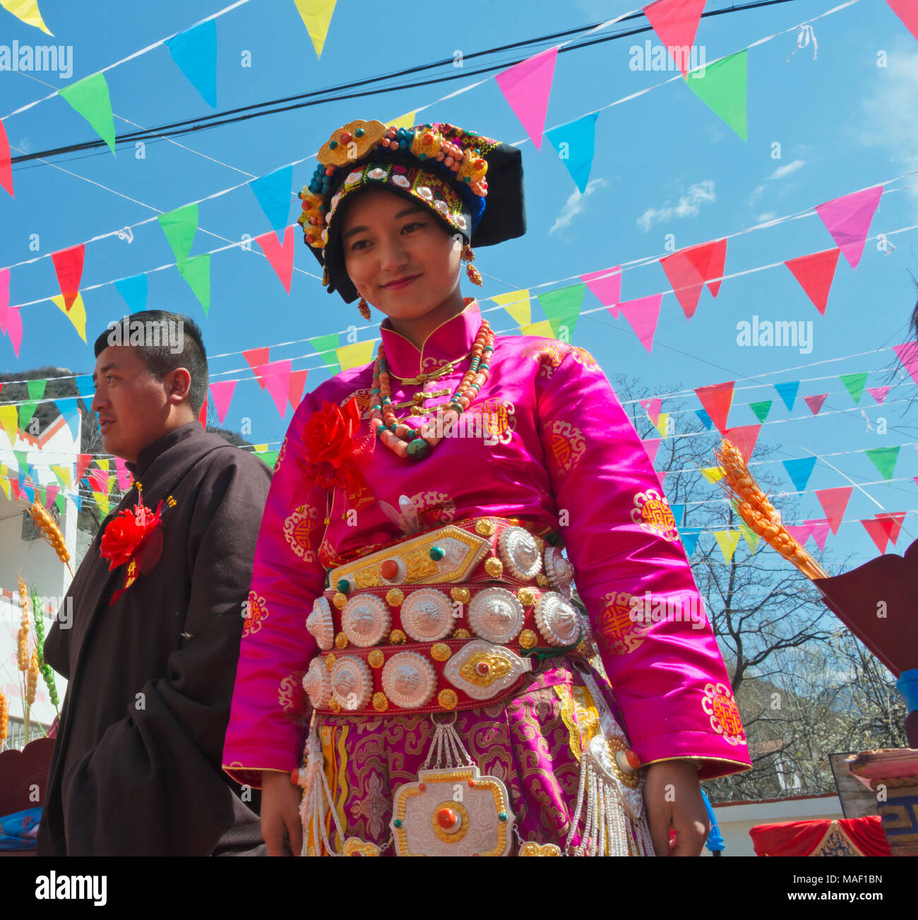 Tibetan wedding ceremony, Jinchuan County, Sichuan Province, China - Stock Image