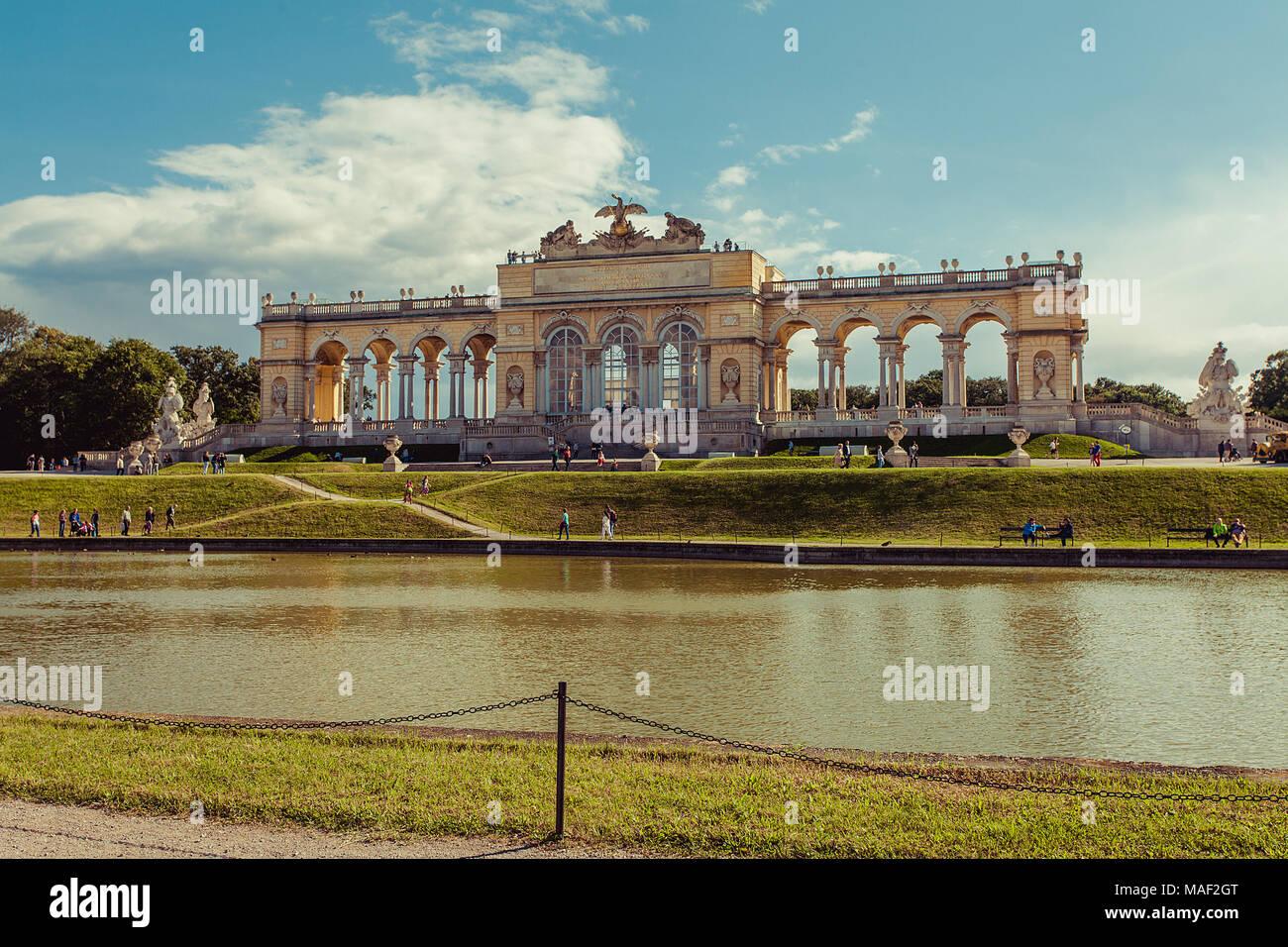 Gloriette - Schönbrunn, Vienna, Austria - Stock Image