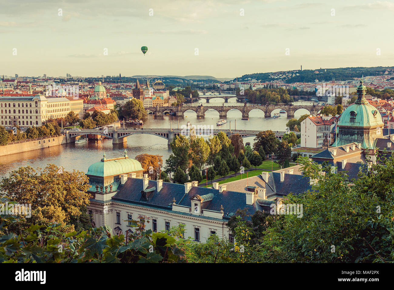 The view from Letna Park, Prague, Czech Republic. Stock Photo