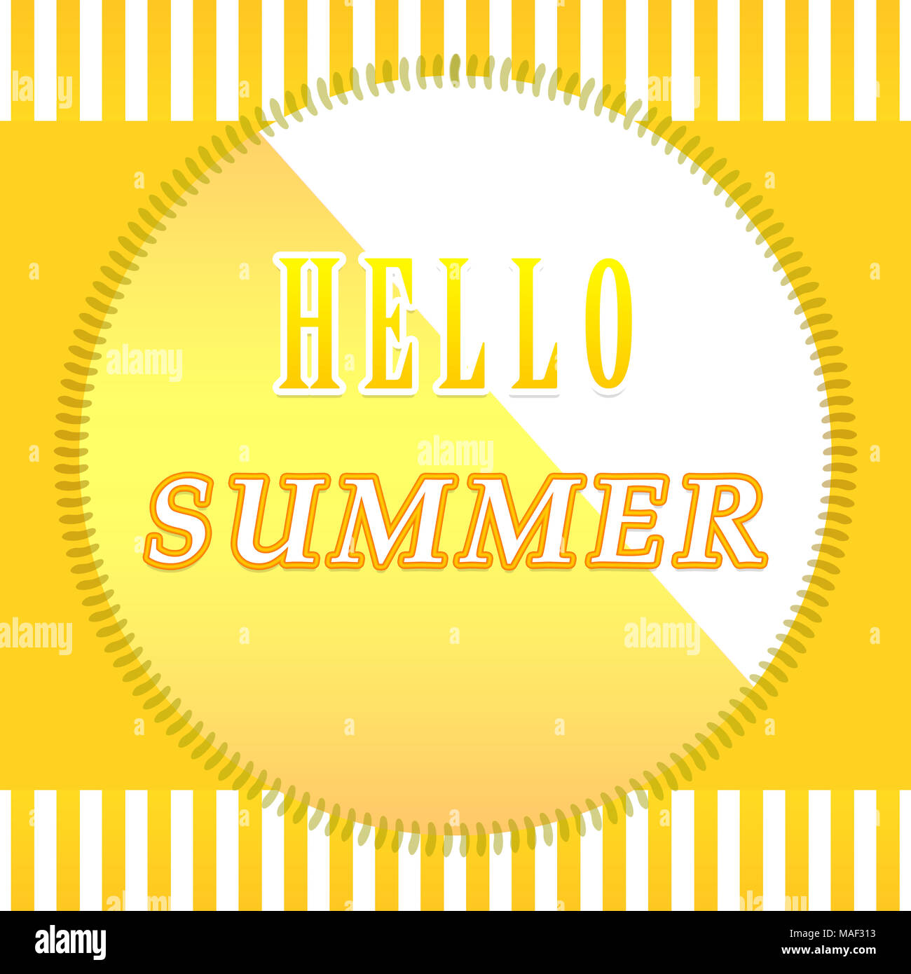 Hello summer background. Design for summer sales, banners, wedding cards - Stock Image