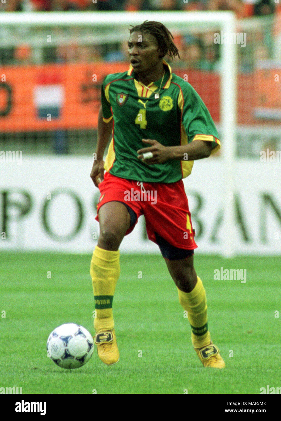 Gelredome Arnheim, Netherlands 27.5.1998 Football, international friendly: Netherlands vs Cameroon 0:0 --- Rigobert SONG (CAM) - Stock Image