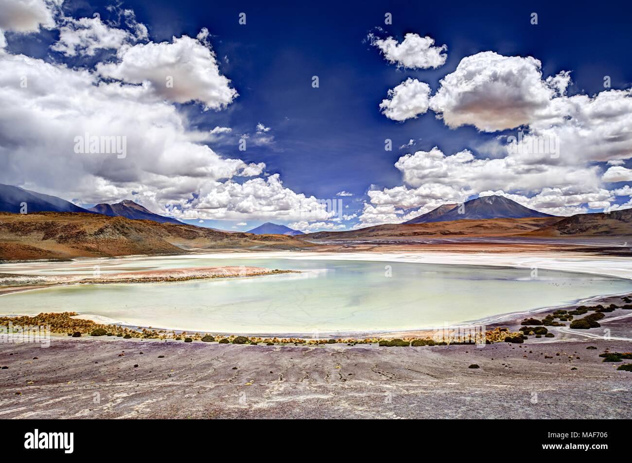 Altiplano Lagoon in Bolivia, Southamerica - Stock Image