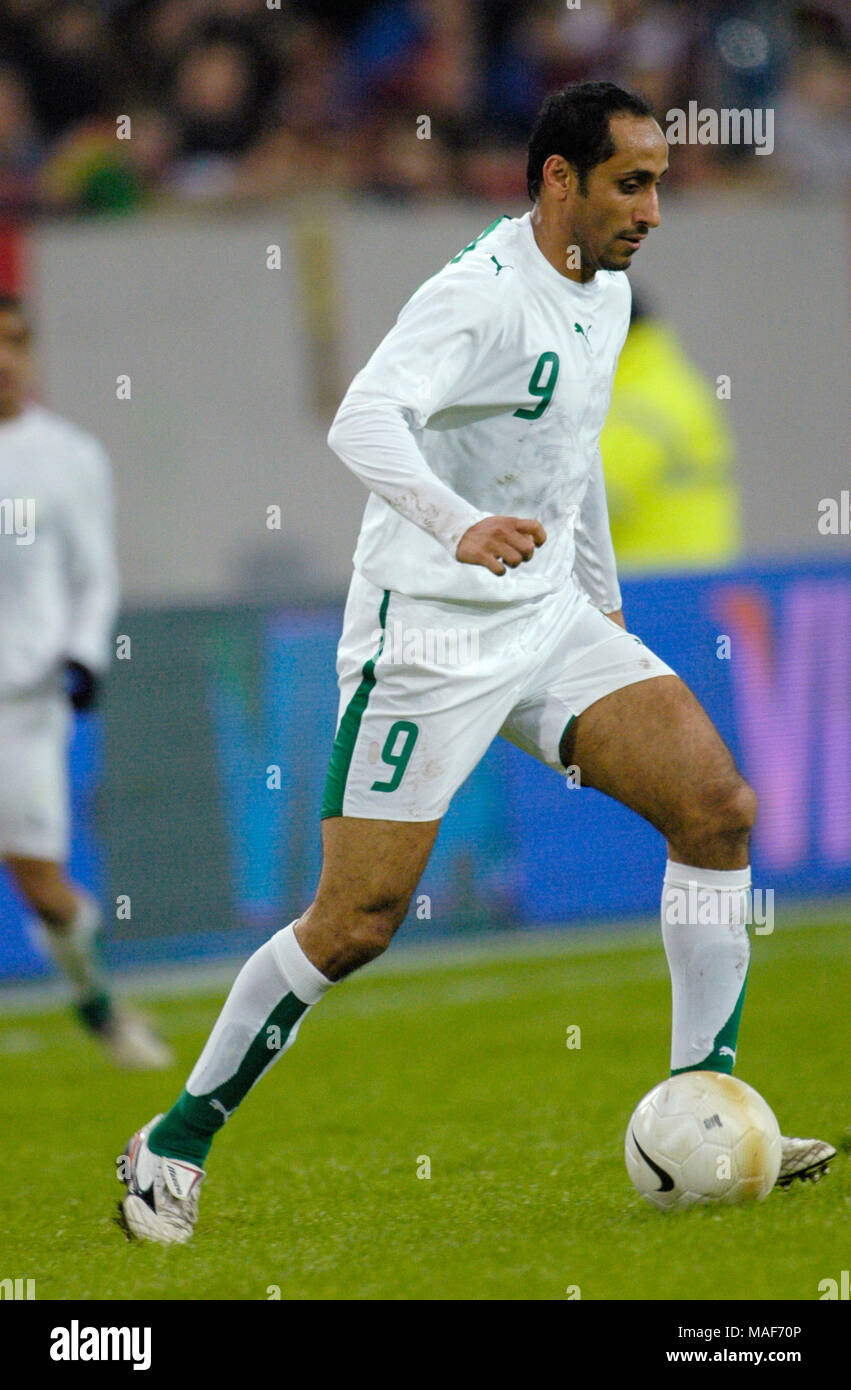 LTU Arena Dusseldorf Germany, 1.3.2006, Football international friendly match Saudi Arabia vs Portugal 0:3 --- Sami AL JABER (KSA) - Stock Image