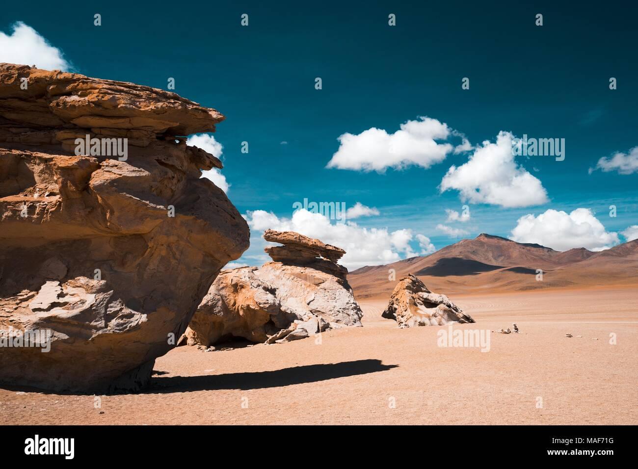 Altiplano landscape in Potosi,  Bolivia - Stock Image