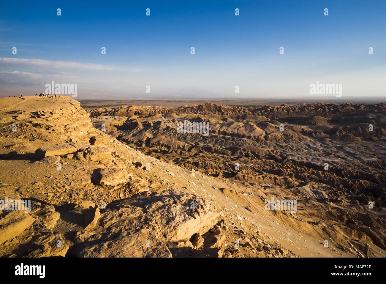 geological rock formations of Valle de la Luna in Atacama desert, Chile - Stock Image