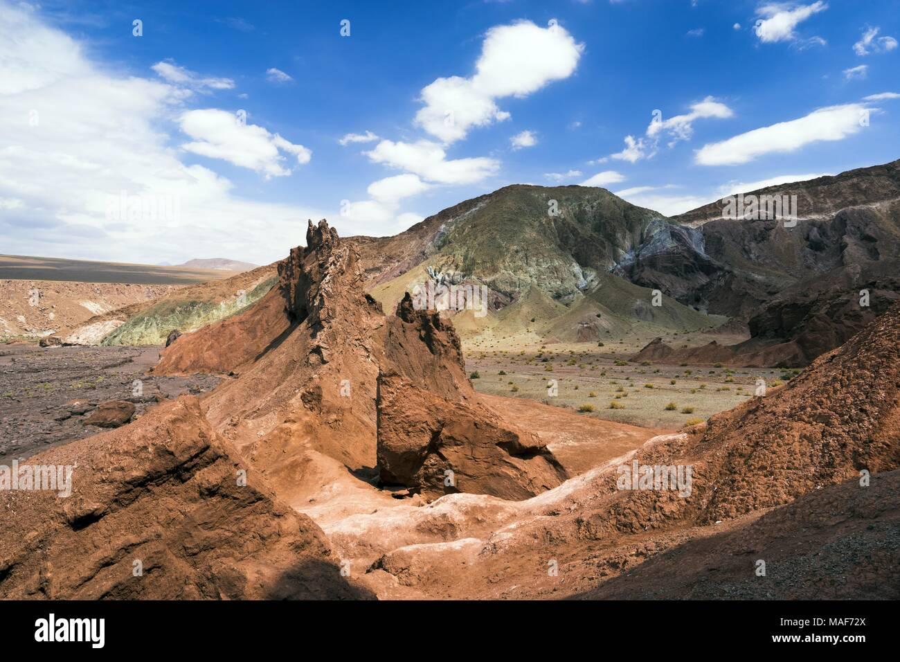 Valle de Arcoiris, Rainbow Valley,  Atacama, Chile - Stock Image