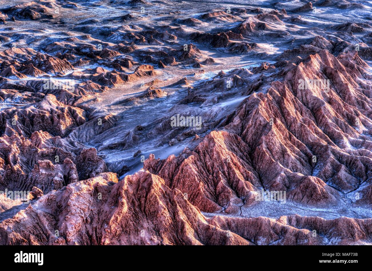 dry and desert landscape in the north of chile, Atacama - Stock Image