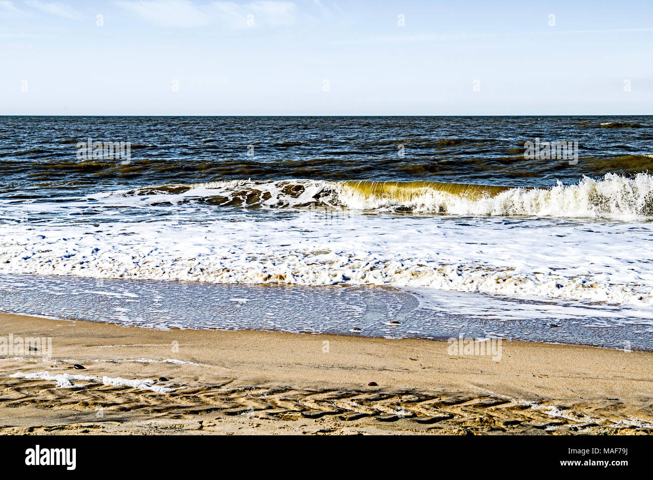 Sylt (Northern Germany, North Frisia): Beach scene; Sylt (Nordfriesland): Am Stran - Stock Image
