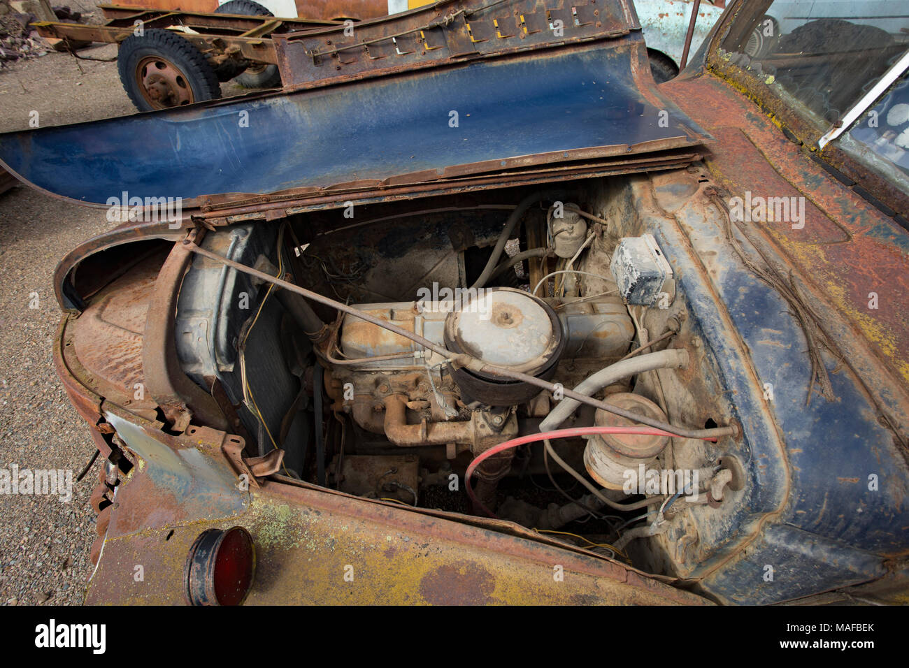 Old Pickup Engine Compartment : Gmc truck stock photos images alamy