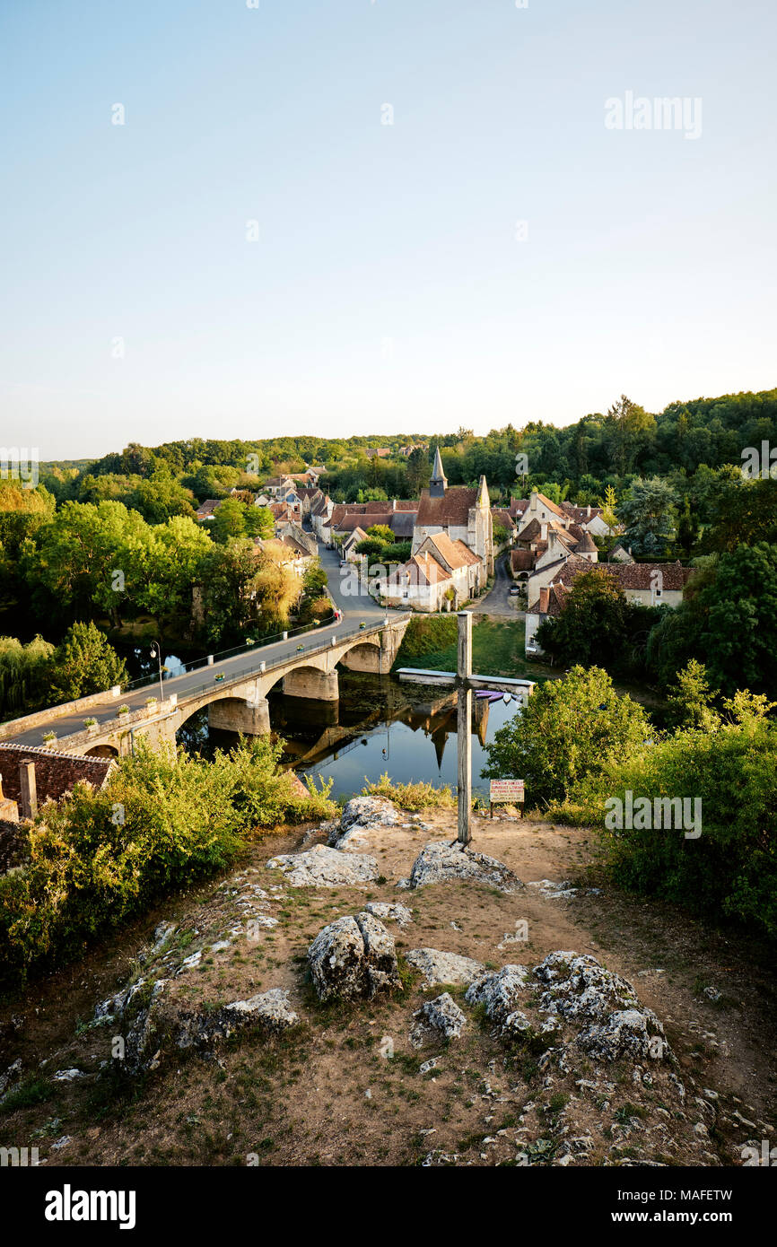 Angles-sur-l'Anglin is a commune in the Vienne department in the Nouvelle-Aquitaine region in western France. - Stock Image