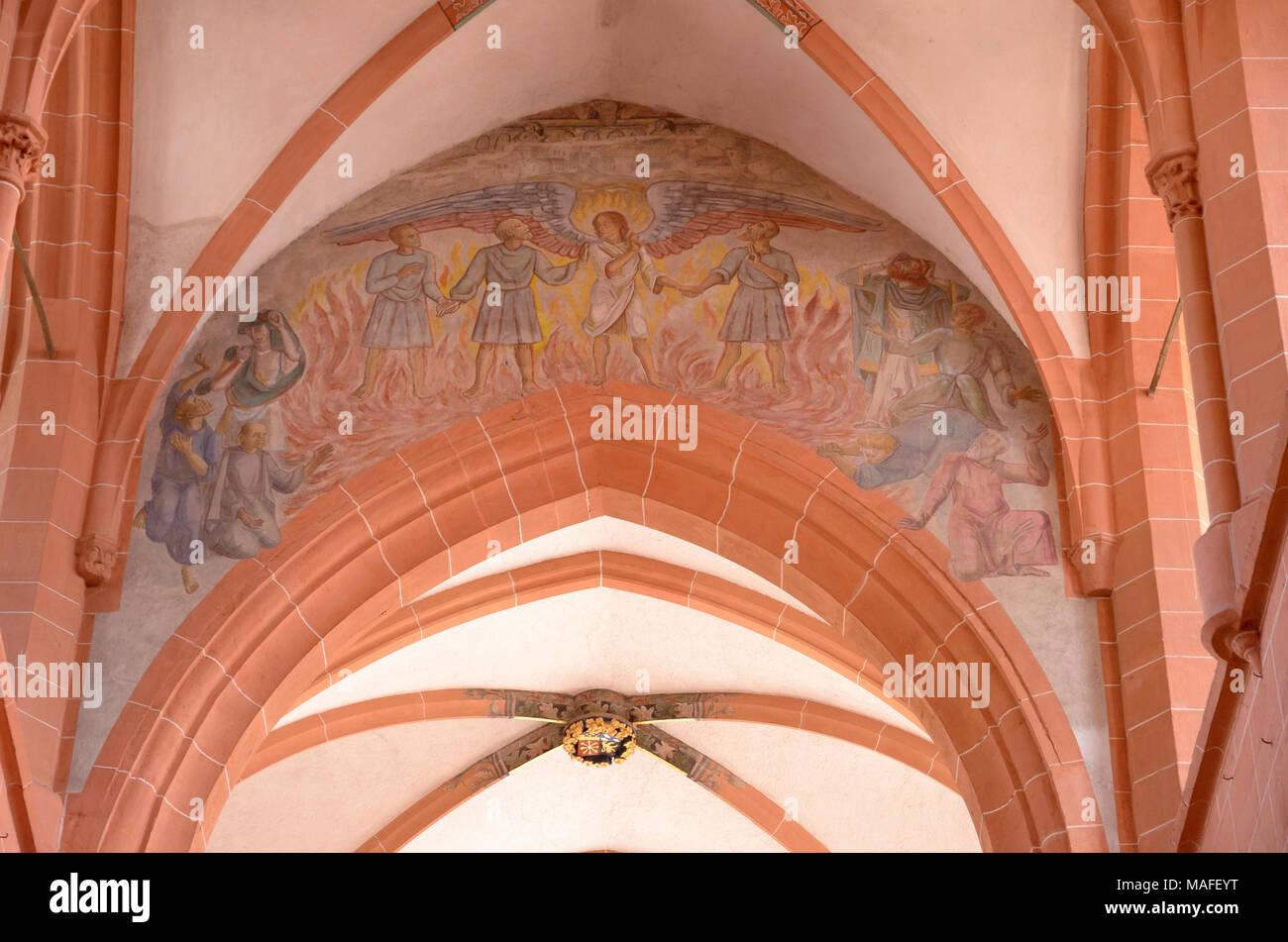 Grabstätte Ruprecht III. und seiner Gemahlin Elisabeth von Hohenzollern-Nürnberg , Heilig-Geist-Kirche, Heidelberg, Baden-Württemberg, Deutschland - Stock Image