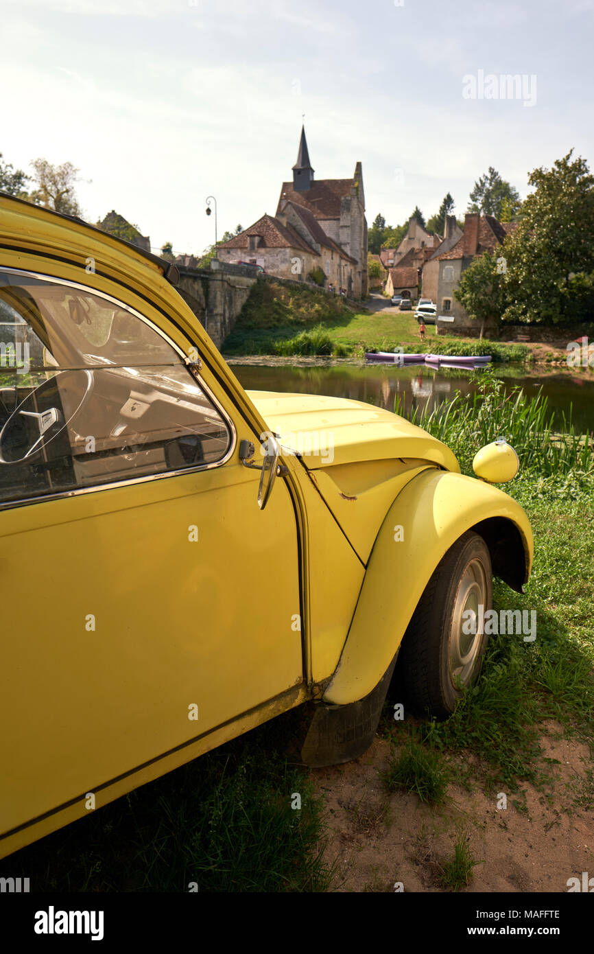 A Classic Citroen 2CV Parked In Rural France
