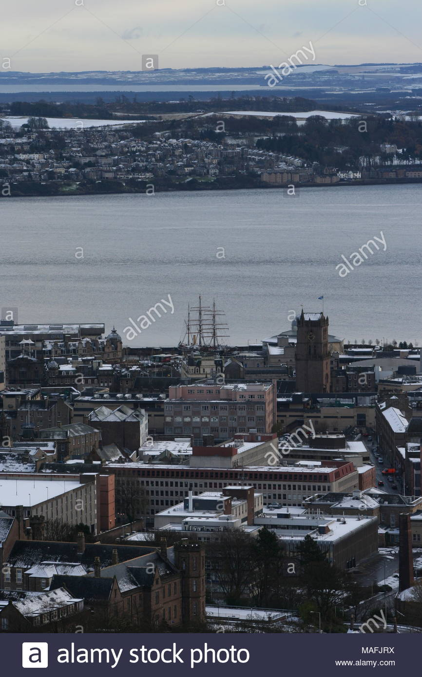 Elevated view of Discovery Point Dundee Scotland  November 2008 - Stock Image