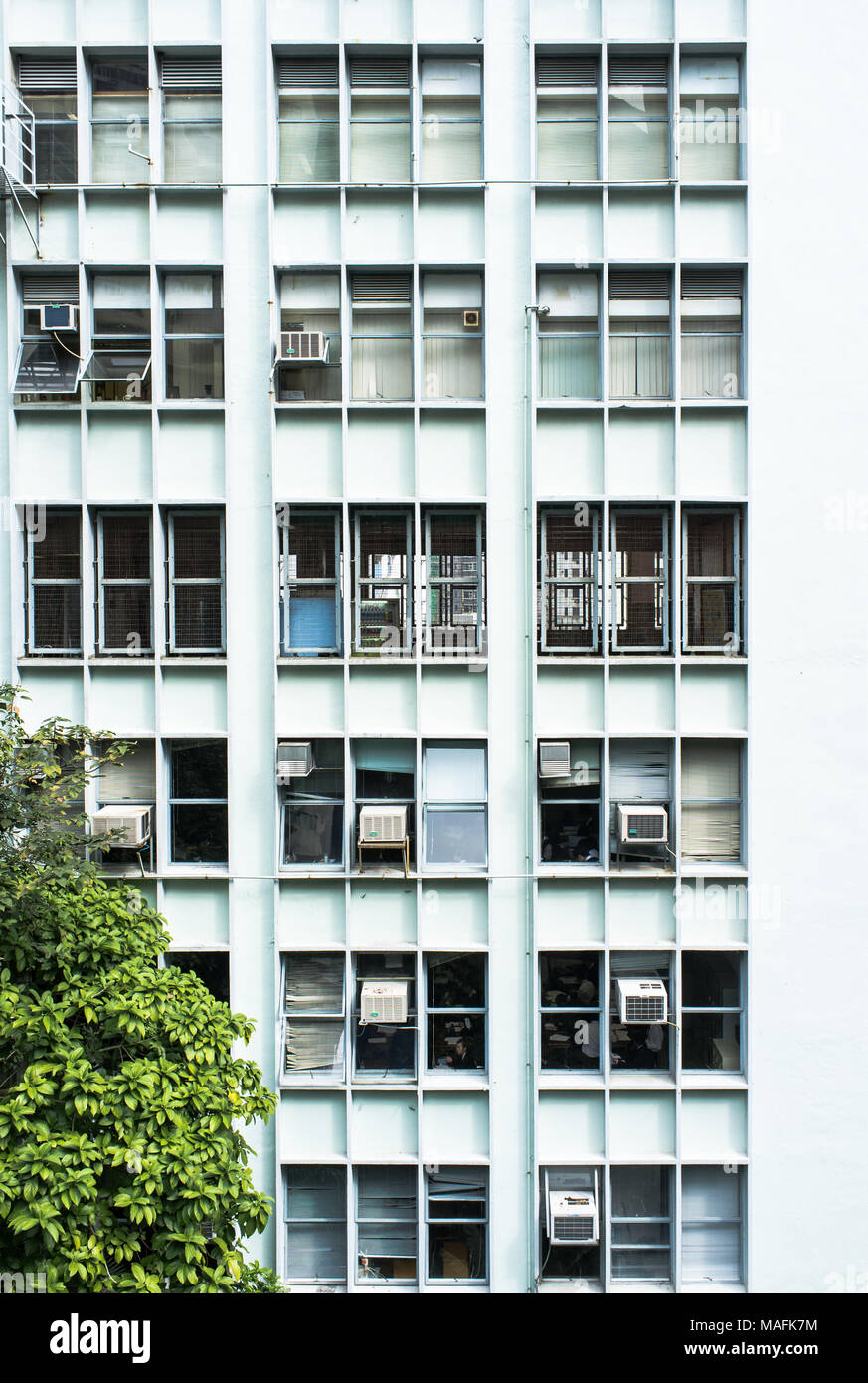 Apartment building in Hong Kong - Stock Image