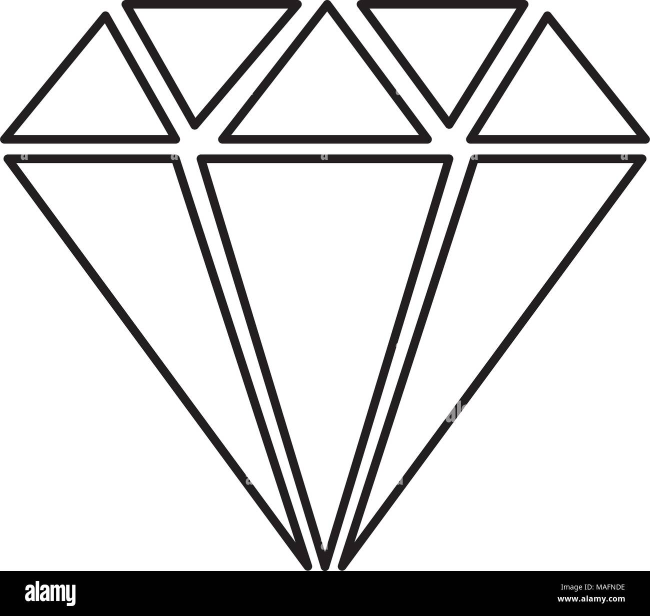 diamond gem isolated icon - Stock Image