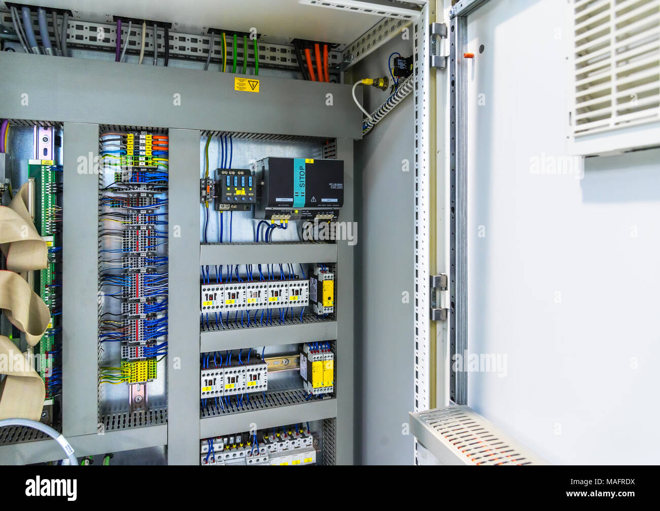 Automatic Fuse Electrical Connector In Power Lines Industrial Electric Enclosure Switch Control Panel Board Stock Photo Alamy