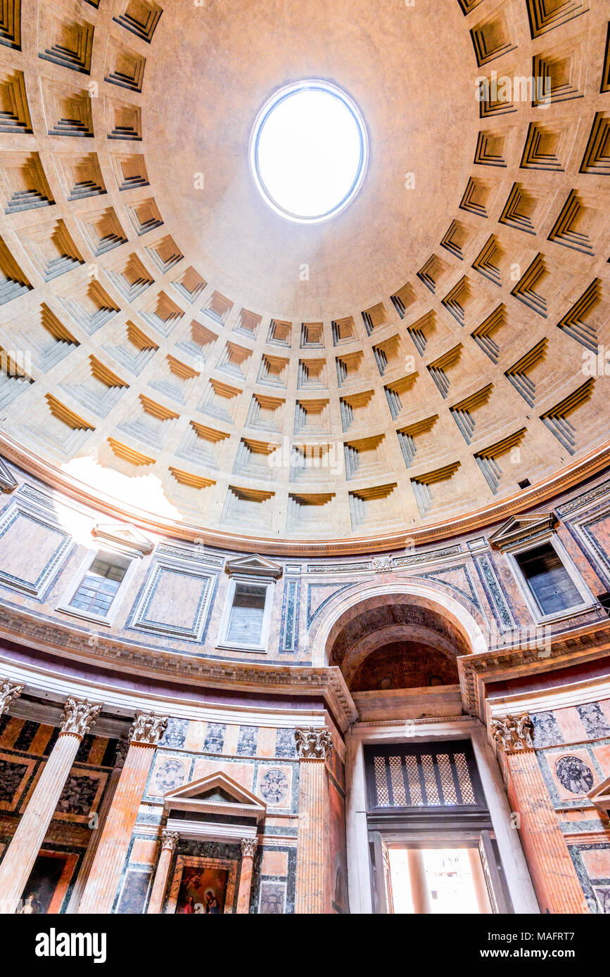 Rome, Italy. Pantheon, ancient architecture of Rome, Lazio, dating from Roman Empire. - Stock Image