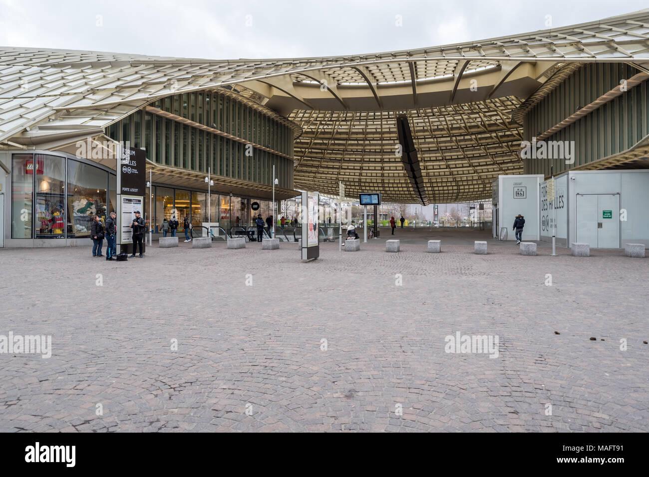 France,  Paris -   1 April 2018:  Forum des halles Stock Photo
