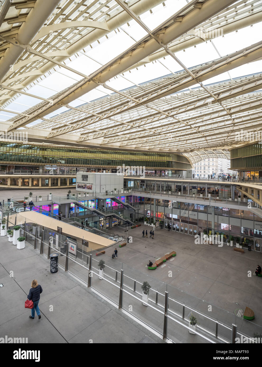France,  Paris -   1 April 2018:  Forum des halles Stock Photo