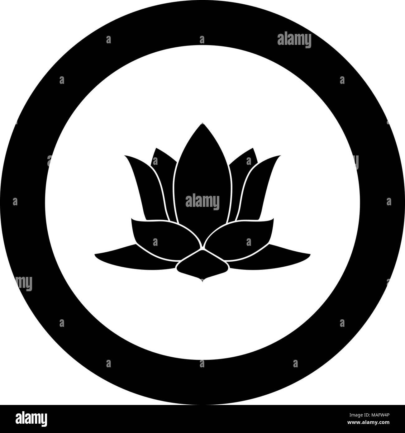 Lotus Flower Drawing Isolated Icon Stock Photos Lotus Flower