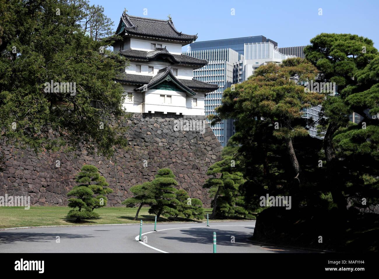 Fujimi Yagura keep of Imperial Palace, Tokyo, Japan - Stock Image