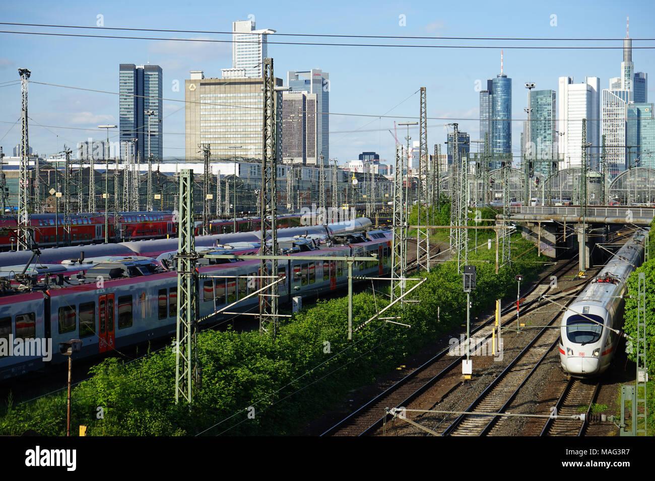 Railtracks in Front of Frankfurt Main Station Frankfurt, Germany, - Stock Image