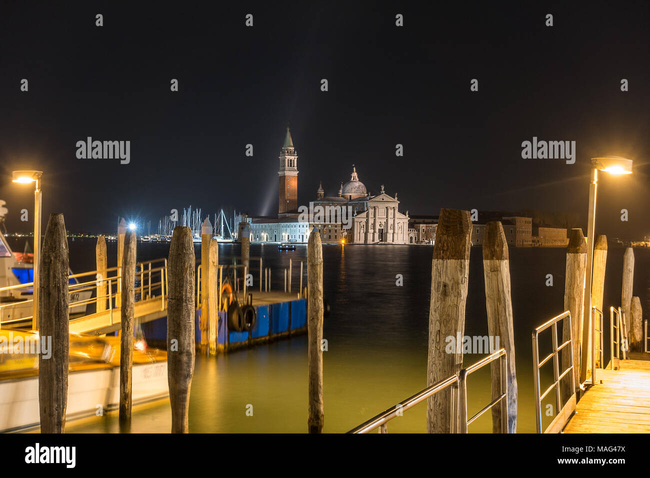 Looking across to San Giorgio Maggiore from Piazza San Marco - Stock Image