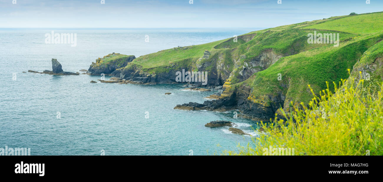 A view of Lizard Point, a peninsular which is the most southerly point of the British Isles - Stock Image