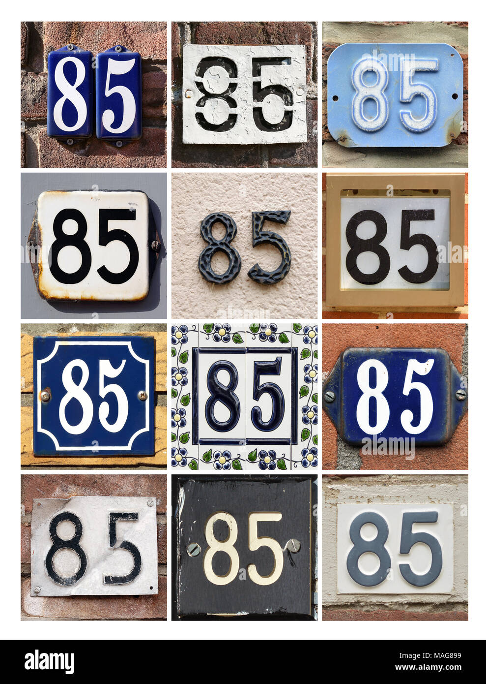 Number 85 sign - Stock Image