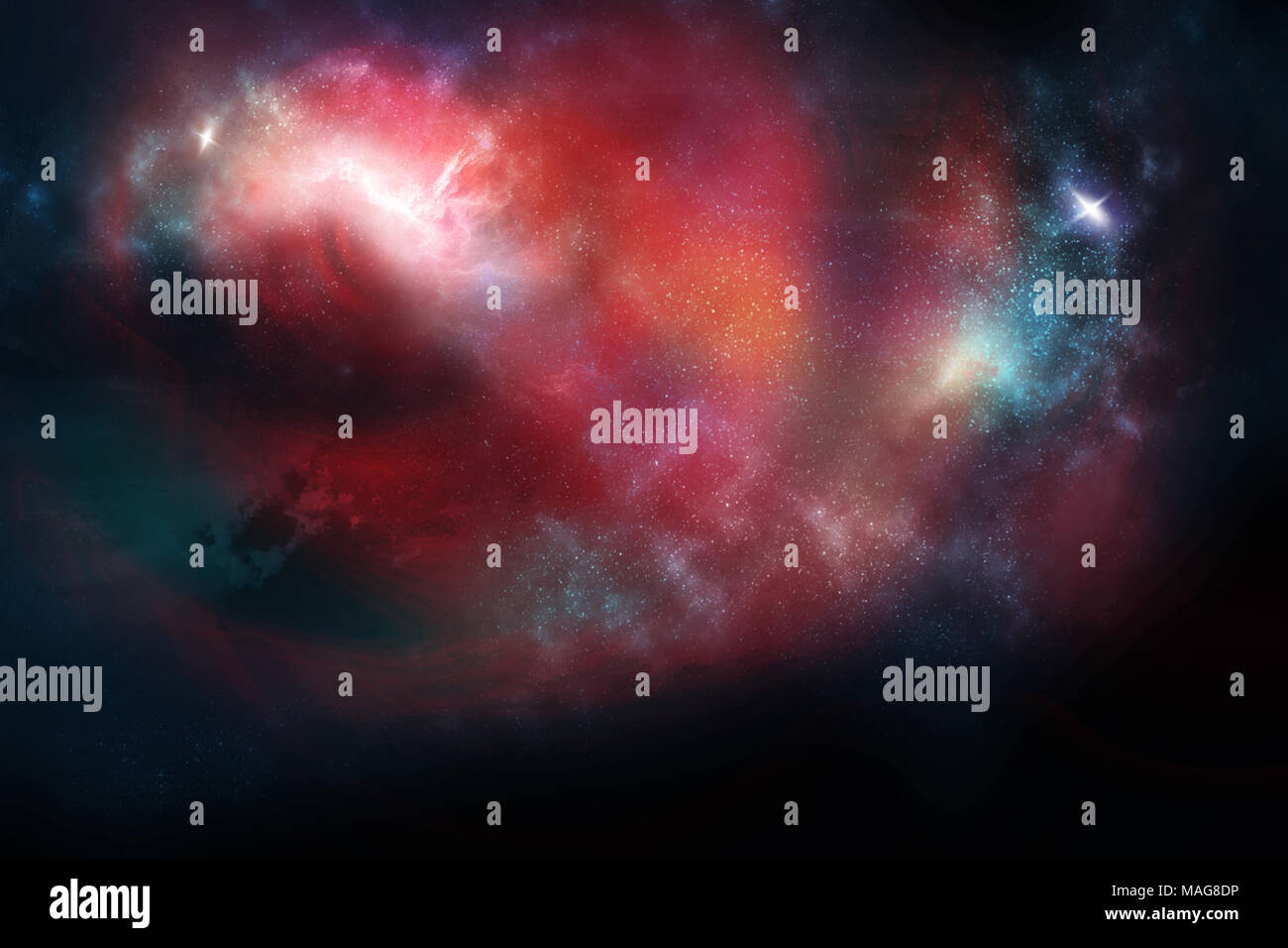 Celestial Art, Stars and Galaxies in Outer Space Showing the Beauty of Space exploration. - Stock Image