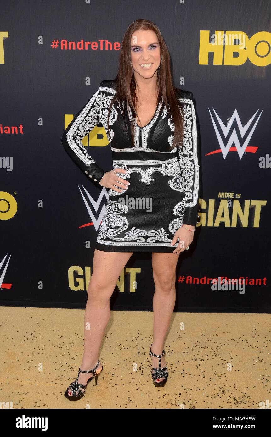 Los Angeles, CA, USA. 29th Mar, 2018. Stephanie McMahon at arrivals for ANDRE THE GIANT HBO Premiere, Cinerama Dome, Los Angeles, CA March 29, 2018. Credit: Priscilla Grant/Everett Collection/Alamy Live News - Stock Image