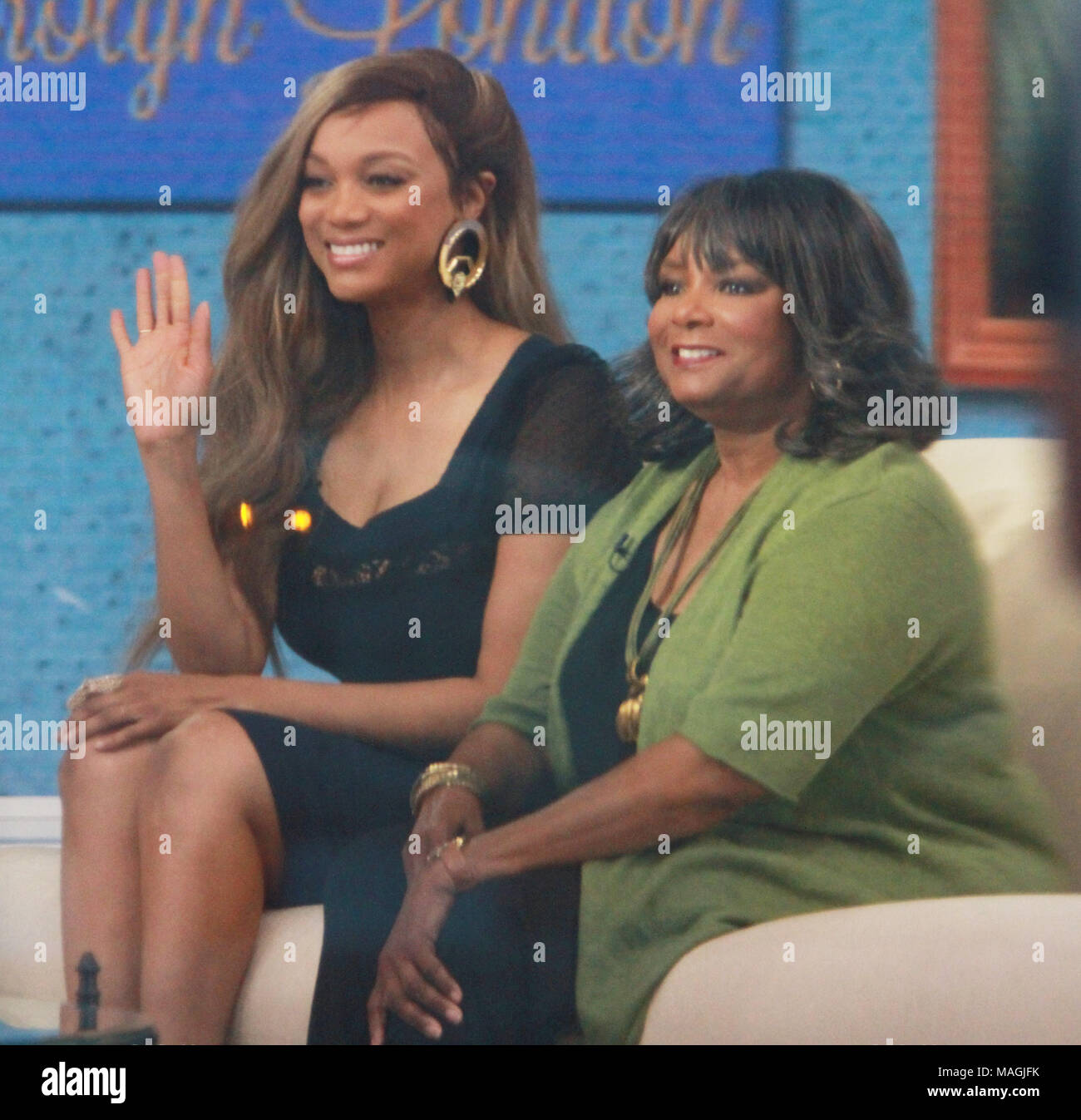 Tyra Banks Promotes New Book With Her Bra On Show: Tyra Banks Show Stock Photos & Tyra Banks Show Stock