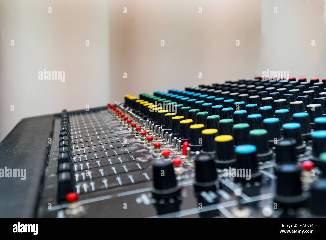 Mixing console, mixing sound Board Stock Photo