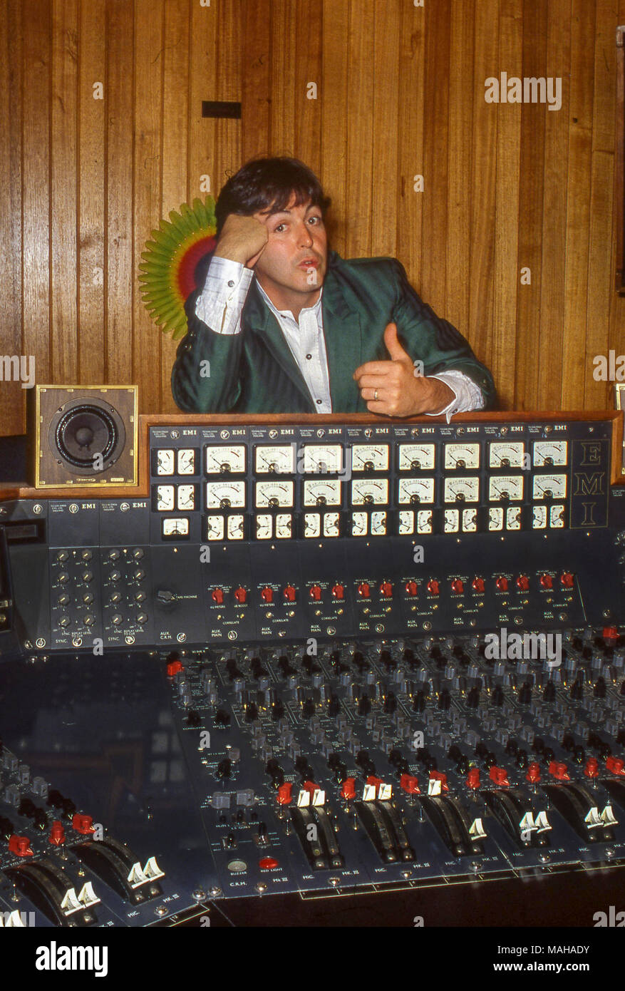 Paul McCartney At The Abbey Road Studios Promotong His Second Solo Album II In 1980