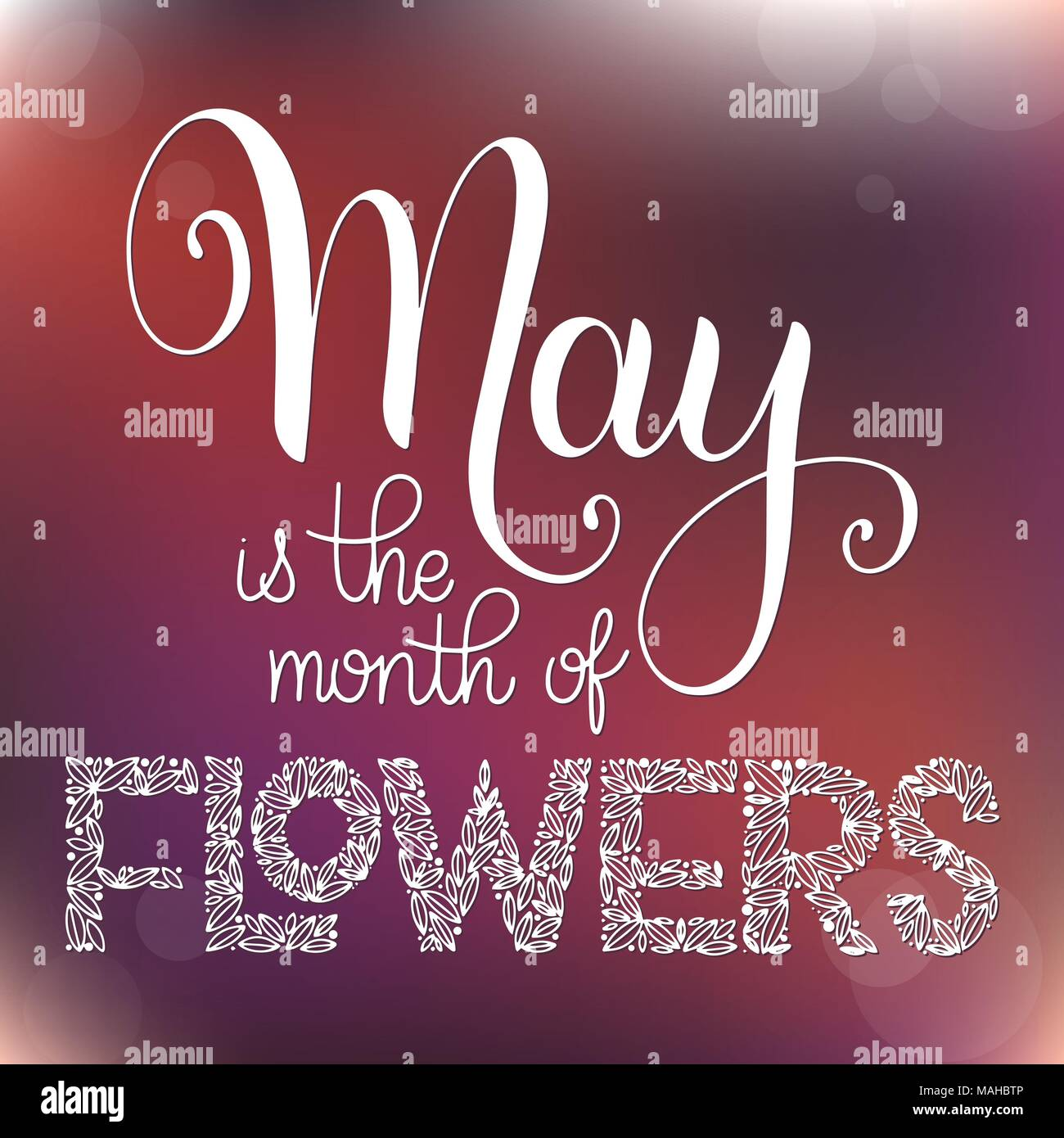 May is the month of flowers lettering elements for invitations may is the month of flowers lettering elements for invitations posters greeting cards seasons greetings m4hsunfo