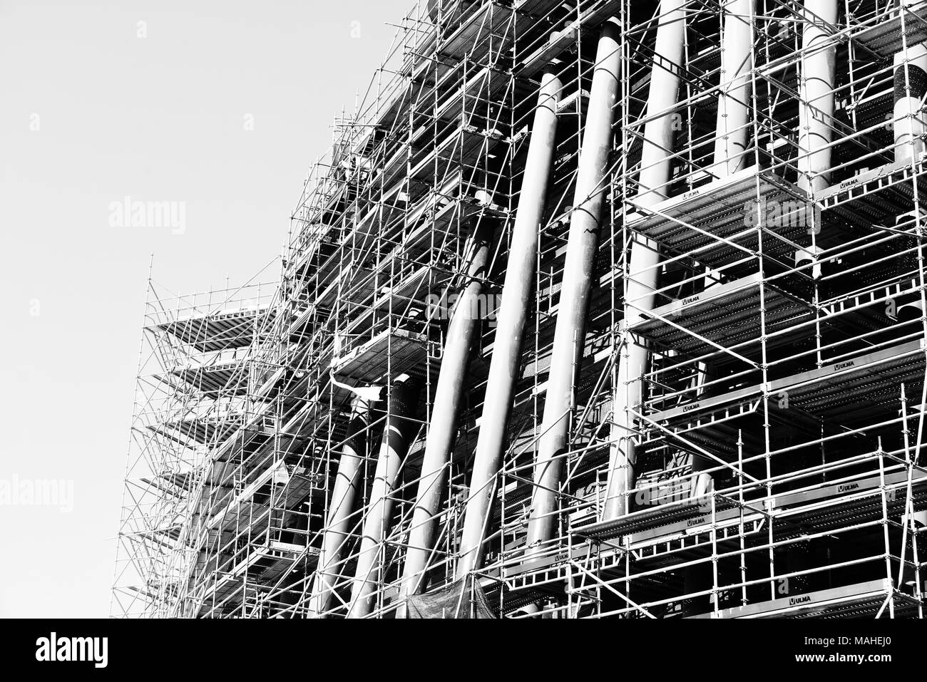 Construction site in Valencia, Spain - Stock Image