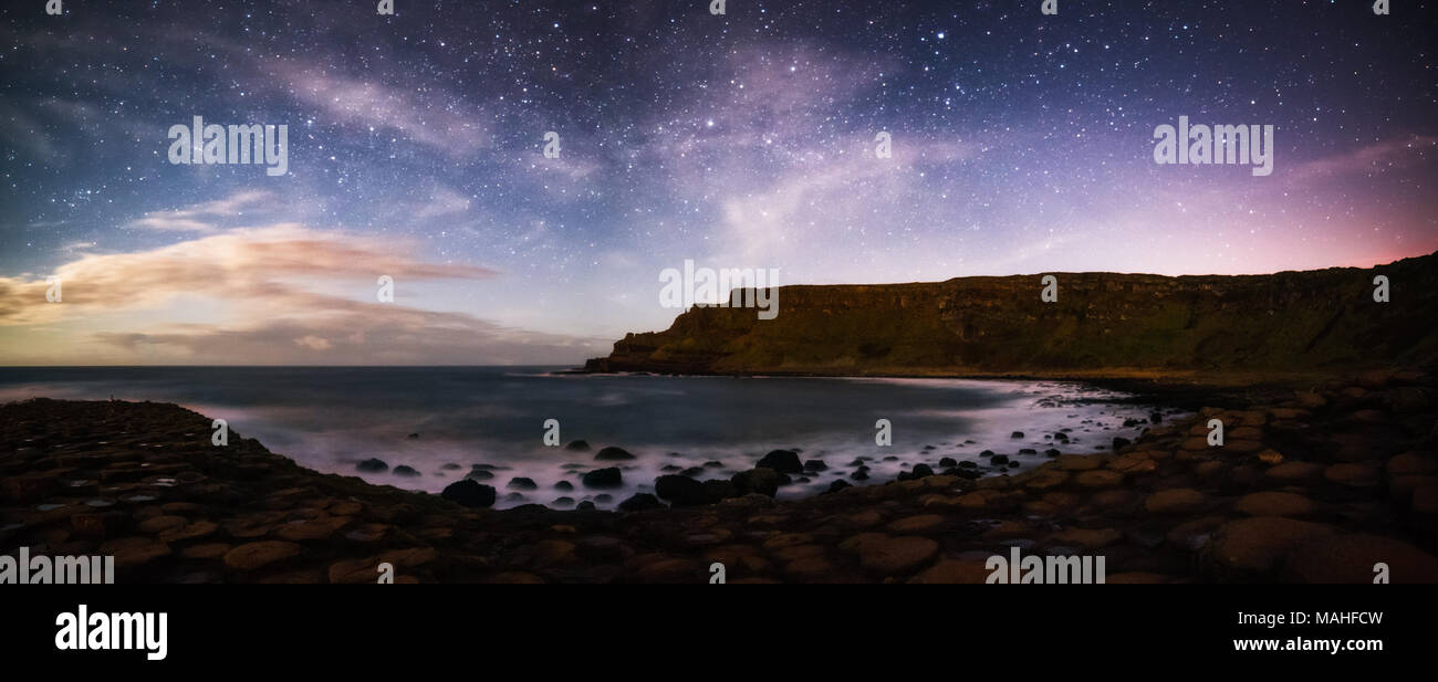 Giants Causeway - Northern  Ireland Stock Photo
