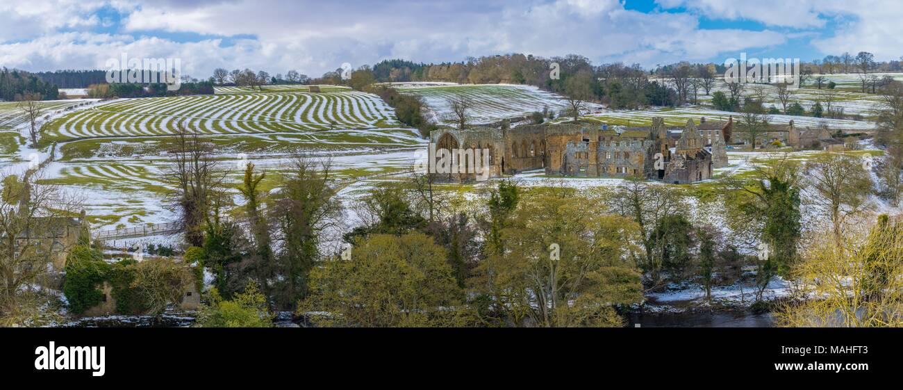 Snowey Eggleston Abbey - Stock Image