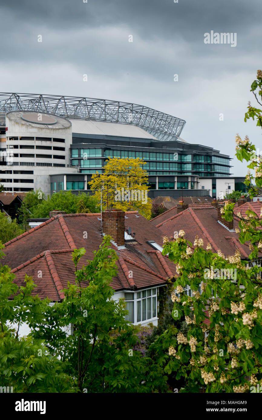 Twickenham rugby stadium London - Stock Image