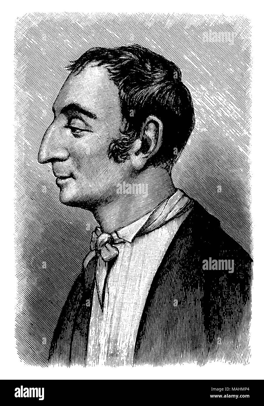 Henri de Saint-Simon (1760-1825), - Stock Image