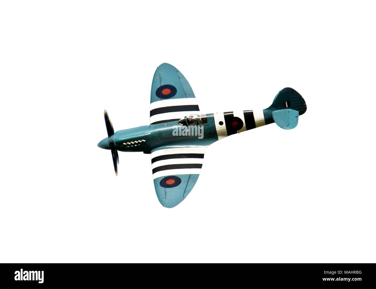 WW' spitfire on a white background - Stock Image
