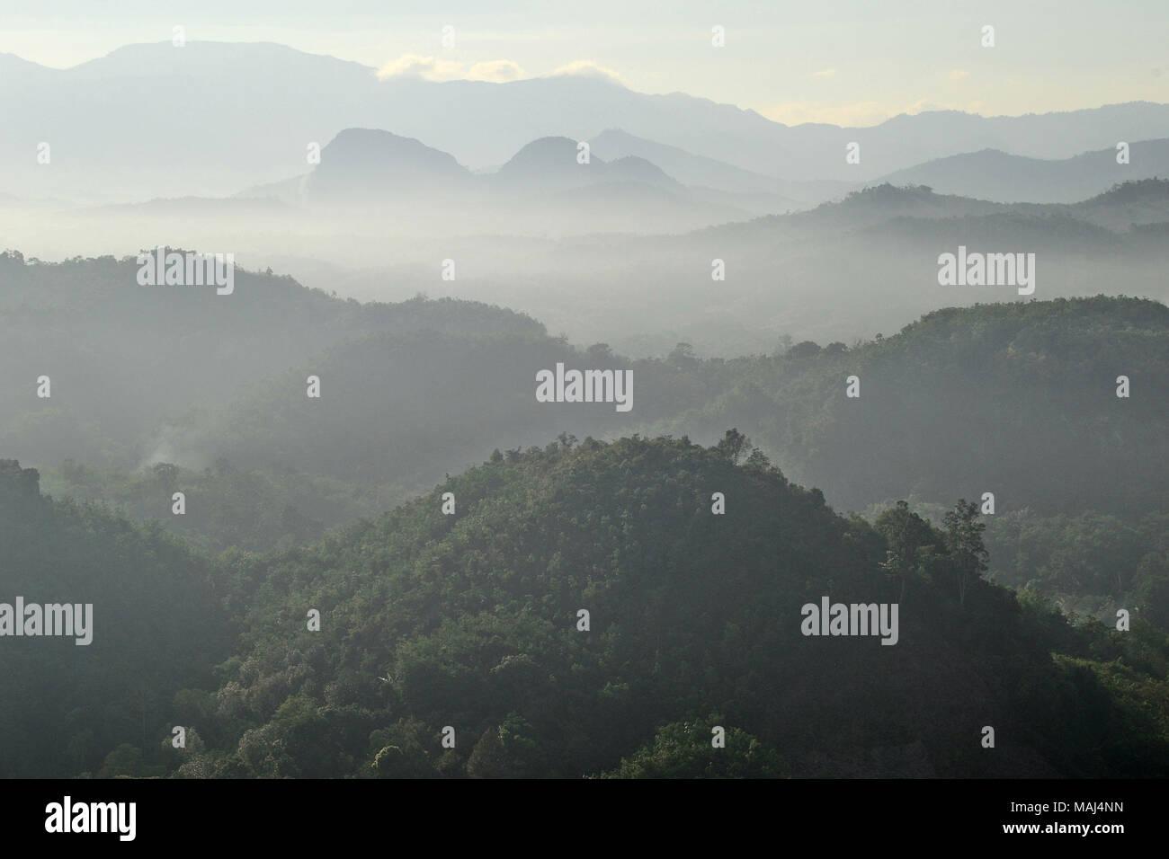 Meratus mountains of South Kalimantan, Indonesia. - Stock Image