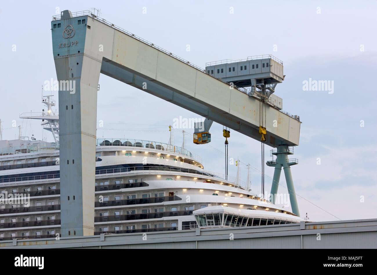 Fincantieri Monfalcone Shipyard Stock Photos Amp Fincantieri