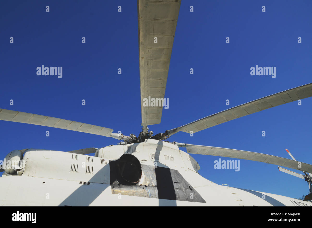 Cab and propeller aircraft closeup - Stock Image