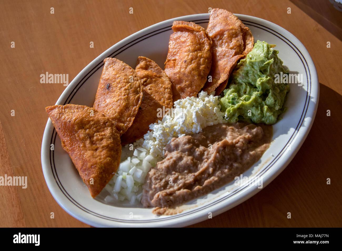 Enchiladas Potosinas at La Parroquia Potosina restaurant, San Luis Potosi, Mexico Stock Photo