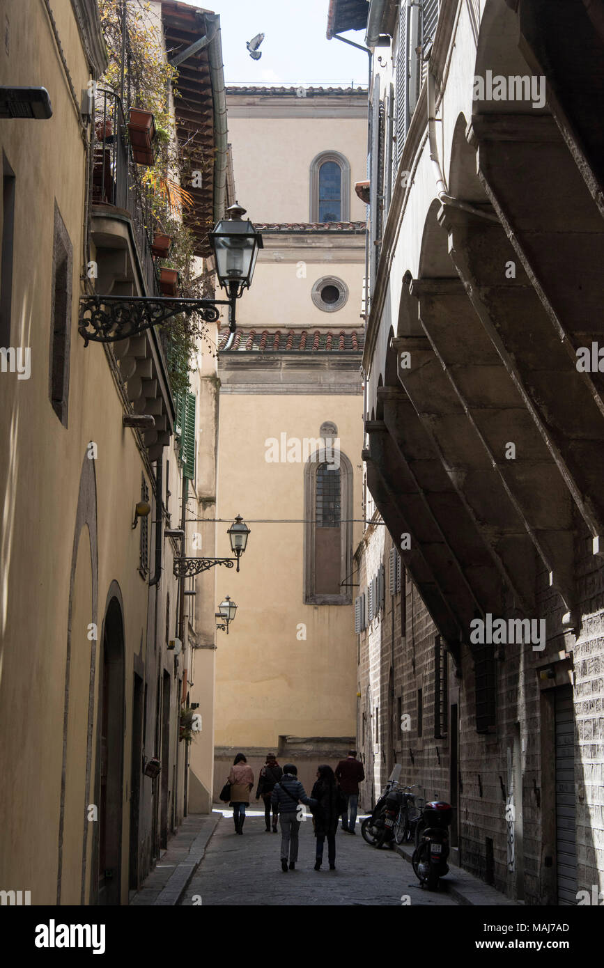 Doors on Via De' Coverelli, Florence Italy - Stock Image