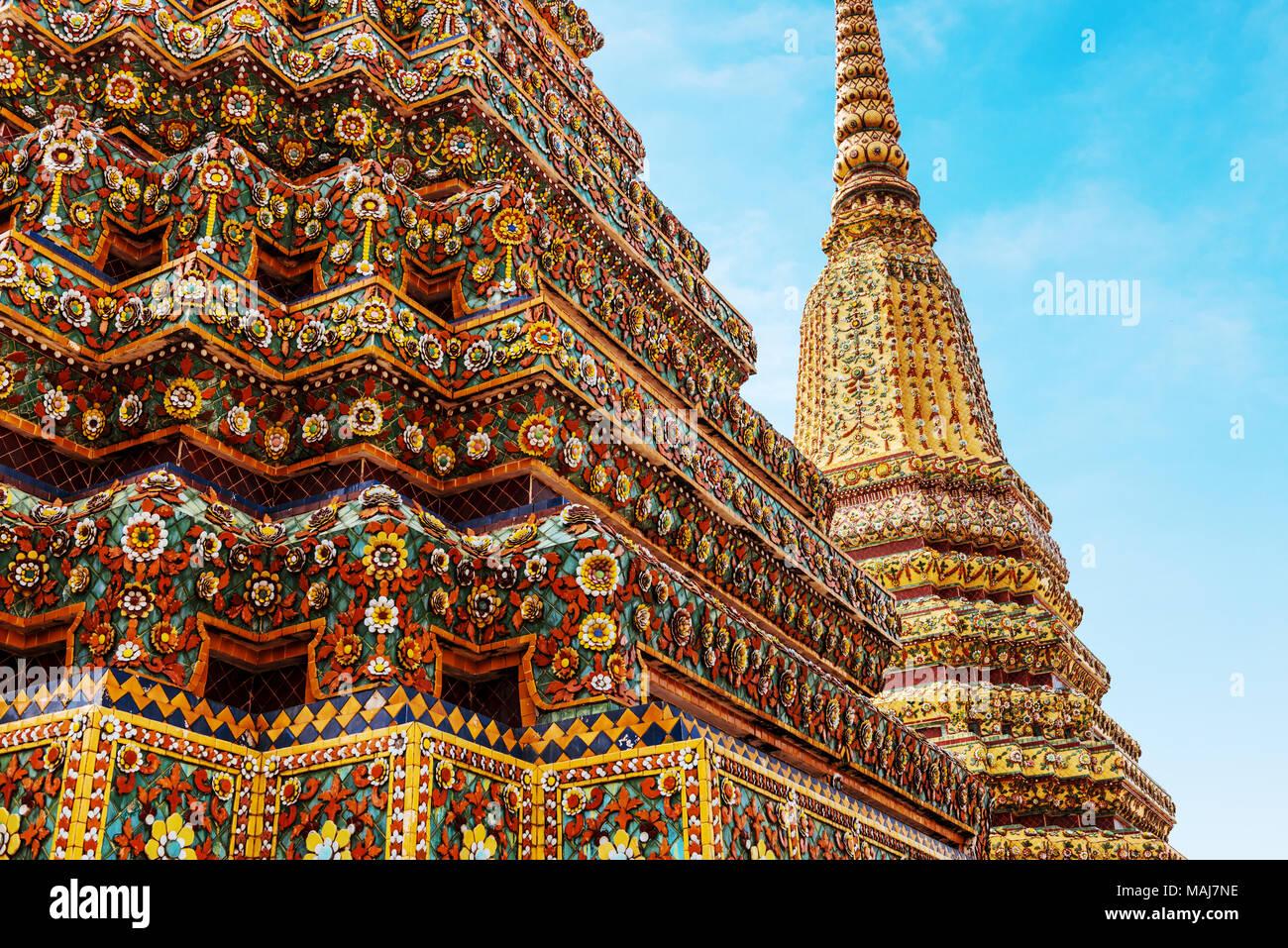 Wat Pho in Bangkok, landmark of Thailand Stock Photo