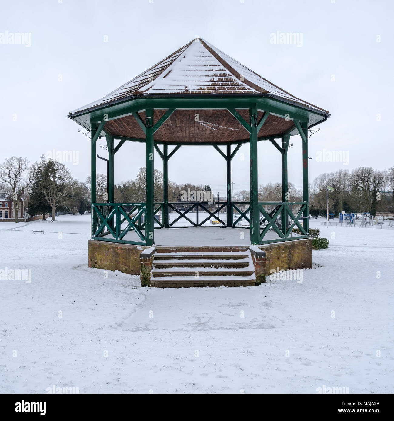 Bandstand in winter - Stock Image